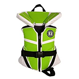 Mustang Survival Corp Lil\' Legends 100 Child Life Vest, White/Apple Green