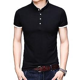 Men's Casual Slim Fit Shirts Short Sleeve Polo Fashion T-Shirts
