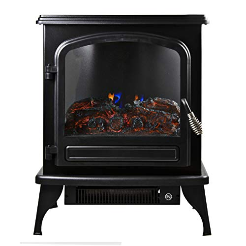 Comfort Zone CZFP6 2 Heat Setting 1500 Watt Stove Fireplace Heater