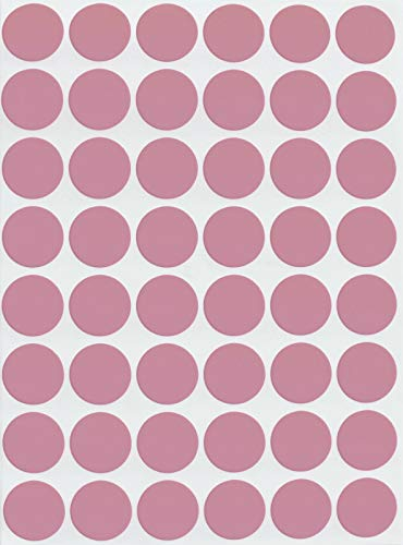 Royal Green Color Labels Pastel Pink 5/8