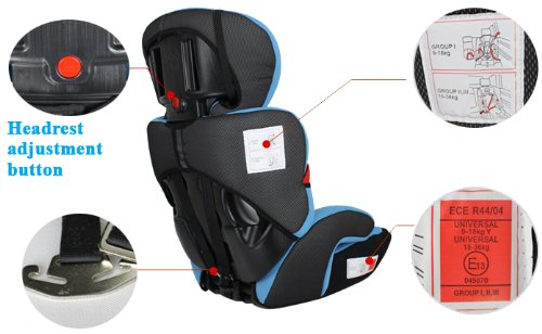 NEW GROUP 1//2//3 9-36 KG 3IN1 Black CHILD BABY CAR SEAT SAFETY BOOSTER