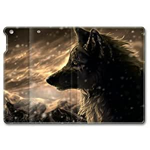 iPad Air Case, Snow Wolf 01 Customized Design Slim-Fit iPad Air Case Folding Leather With Stand Cover for iPad 5