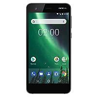"Nokia 2 - Android - 8GB - Single SIM Unlocked Smartphone (AT&T/T-Mobile/MetroPCS/Cricket/H2O) - 5"" Screen - Black - U.S. Warranty"