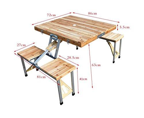 mccoutdoor portable klapptisch und st hle set holz koffer st ck m bel tisch bbq picknicktisch. Black Bedroom Furniture Sets. Home Design Ideas