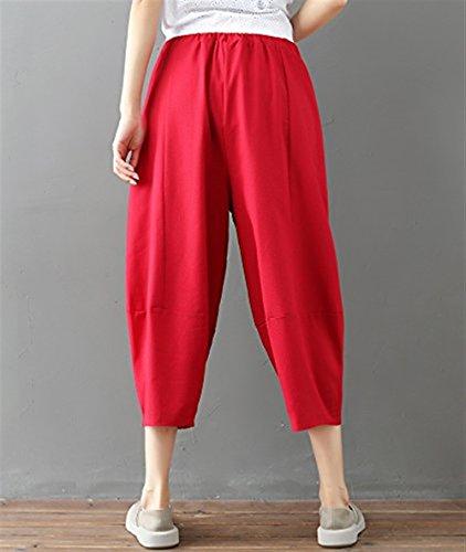 Pantaloni Pantalone Eleganti Monocromo Mode Harem Leggero Accogliente Estivi Donna marca Tempo Pantaloni BOLAWOO nbsp; Pluderhose di Libero Baggy Rot dYwtqY
