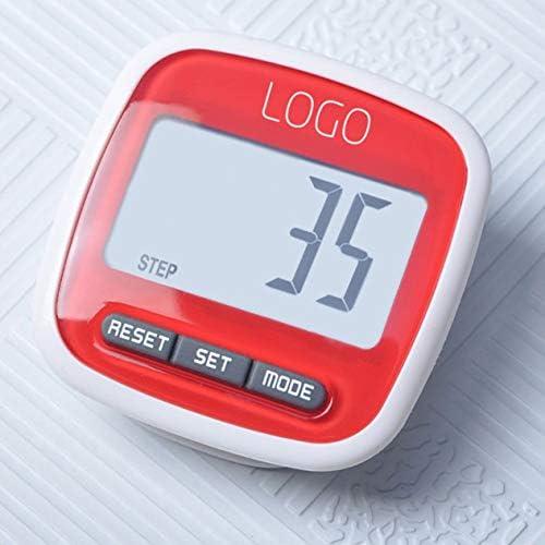 Multifunktions-Mini-wasserdichter digitaler Schrittzähler Schritt Bewegung Kalorienzähler Kleine und leichte Speicherfunktion BCVBFGCXVB (Zufällig