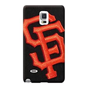Shock Absorption Hard Cell-phone Case For Samsung Galaxy Note 4 With Provide Private Custom Vivid San Francisco Giants Baseball Pictures AshtonWells