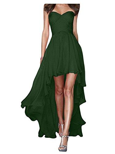 de Vestidos Verde Dama Vestido Sin de JAEDEN Fiesta Noche Largo de Honor Tirantes de Gasa Oscuro Mujeres Vestido atwX6q