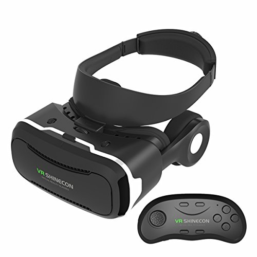 VR Headset, Seetru 3D Glasses Virtual Reality Headset 120°FOV Immersive Google Cardboard with High-fidelity 3D Sound Effect Headphone & Wireless Bluetooth Controller for 4.0~6.0 inch Smartphones
