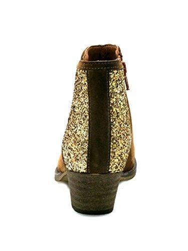 Innocent Stiefelette Cowboy-Stiefelette Leder gold Cognac