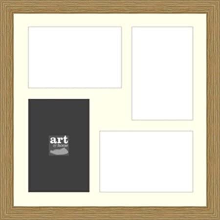 Multi Aperture Wooden Oak Photo Frame (30x30cm) with mount holds 4 ...