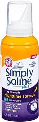 Simply Saline Adult Nasal Mist, Nighttime Giant Size, 4.25 Oz