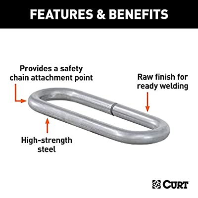 CURT 49950  Weld-On Raw Steel Safety Chain Loop, 10,000 lbs.: Automotive
