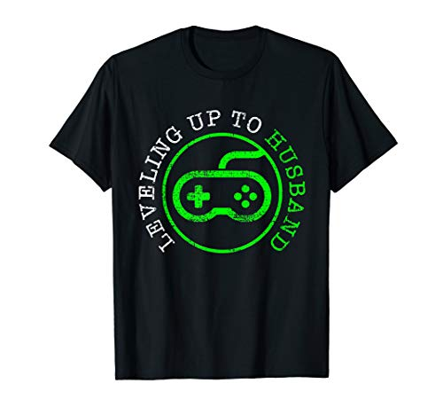 Gamer T-Shirt Wedding Tshirt Marriage Tee Gift Level Up (Best Shirts For Marriage)