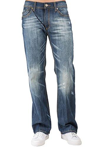 Level 7 Men Midrise Relaxed Bootcut Ghost Rider Primium Denim Jeans (Designer Bootcut Jeans)