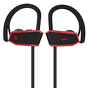Sbode Bluetooth Headphones, Wireless Sports Earphones w/ Mic IPX7 Waterproof HD Stereo Sweatproof Earbuds with  Siri Activated, Noise Cancelling Headsets for Gym Running Workout