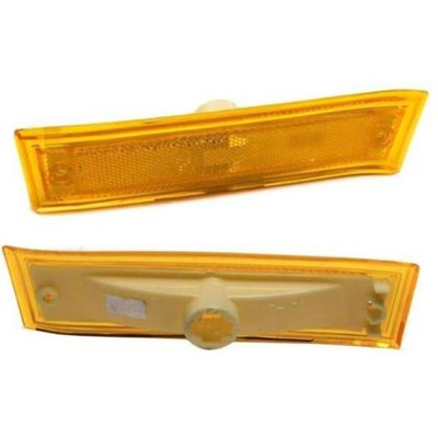 Make Auto Parts Manufacturing - DRIVER SIDE FRONT SIDE MARKER LIGHT ASSEMBLY; WITHOUT CHROME TRIM - GM2550112