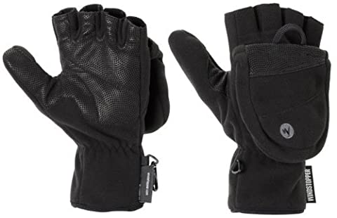 Marmot Men's Windstopper Convertible Glove, Black, X-Large