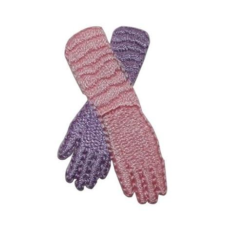 ID 7882 morado rosa ópera guantes moda hierro en parche ...