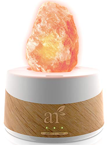 - ArtNaturals Essential Oil Diffuser and Salt-Lamp - (4 Fl Oz - 120ml Tank) - 2 in 1 Authentic Pure Pink Himalayan Rock Salt Lamp from Pakistan with Aromatherapy Diffuser for Sleep and Relaxing
