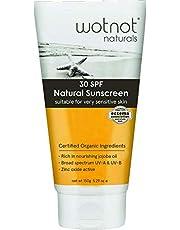 Wotnot Natural Deeply Moisturising SPF 30+ Sunscreen, 150 Grams