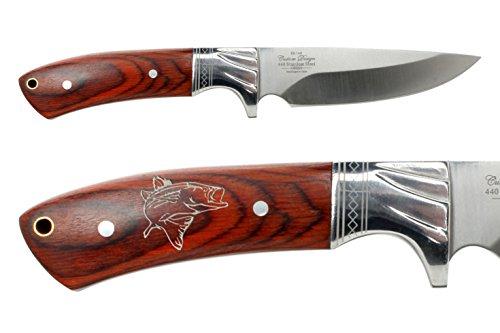 Bass Knife Blade Fixed - NDZ Performance Elkridge 4.5 Straight Back Fixed Blade Knife Full-Tang Bolster Fish Bass
