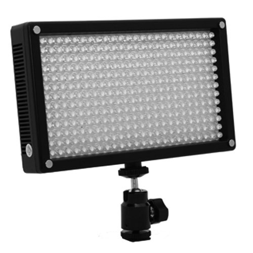 LED 312AS On Camera Bi-Color Dimmable Video Light Panel for Camera and Camcorder Lighting with Magnetic Filter by ILED