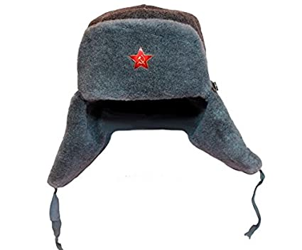 92291afc4 Amazon.com : EASTER GIFT IDEA!! Russian Soviet Army Fur Military ...