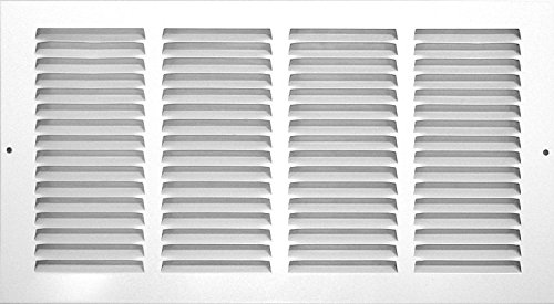 Rocky Mountain Goods Air Return Grille - Heavy duty steel with premium finish - Includes full installation kit - Louvered design - Paintable vent cover - Matte white - Consistent air flow (14