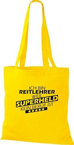 Shirtstown - Bolso de tela de algodón para mujer amarillo dorado