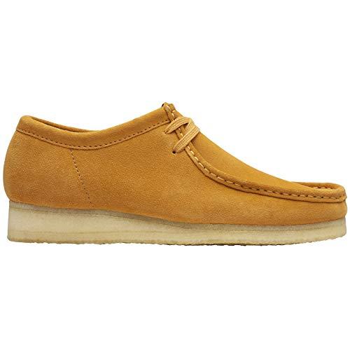 CLARKS Originals Womens Wallabee Suede Tumeric Shoes 8.5 US