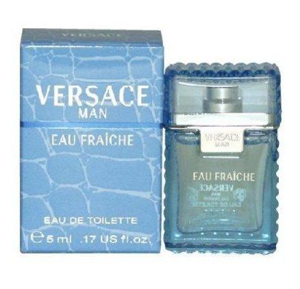 Bottle Edt - Versace Eau Fraiche Men Mini Bottle 0.17 .17 Oz 5 Ml Edt Splash Nib