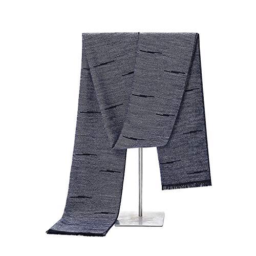 Hommes Mode Coton 180cm Écharpe Pour Grey Noir Automne Hiver Gland Foulard Amdxd XwqRnx5w1