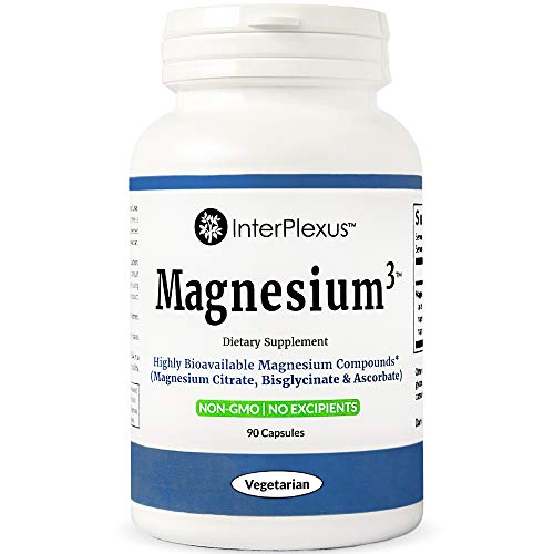 Magnesium³ - Highly Bioavailable Magnesium Compounds (Magnesium Citrate, Bisglycinate & Ascorbate) - 90 ()