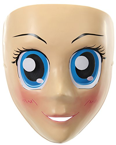 elope Women's Blue Eyes Anime Adult Funny Cosplay Halloween Costume Mask ()