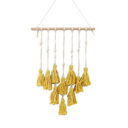 (EAPTS Macrame Wall Hanging Tapestry Boho Chic Yarn Bohemian Hanger Cotton Art Home Room Nursery Decoration)