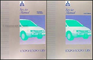 1992 1995 mitsubishi expo expo lrv service shop manual original 2 rh amazon com Used Mitsubishi Expo LRV Body Parts 1995 Mitsubishi Expo