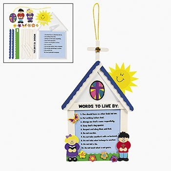 (10 Commandments For Kids Craft Kit - Religious Crafts & Bible Story Crafts)