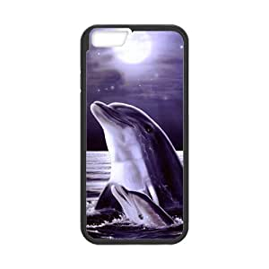Cute Dolphin Patterned Sunset Ocean Sea Snap on Case Cover for Personalized Case for iPhone 6 (Laser Technology) Case 4.7 inch Screen iPhone -05