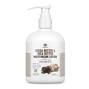 Vanalaya Cocoa Butter & Shea Butter Moisturizing Lotion with Vitamin E and coconut oil for Dry Skin Paraben Free…