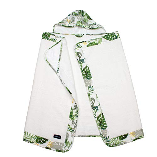 Bebe au Lait Rainforest Muslin Hooded Towel Toddler, Green, One Size (TBMTRF)