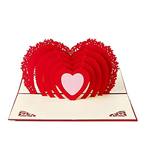 Idea Greetings Card Heart Pop Up Handmade for Valentine's Day - Golden Retriever Wrapping Paper