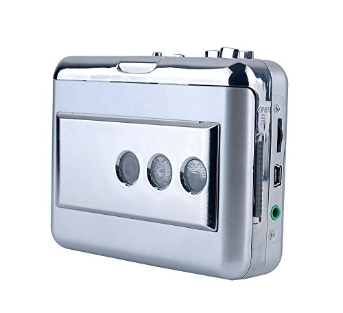 ezcap218B USB Cassette Converter with Audio Input, Capture Analog Music from DVD Vinyl Turntable LP / Cassette Tape to MP3 / WAV Format, Cassette tape (Audio Wav Converter)