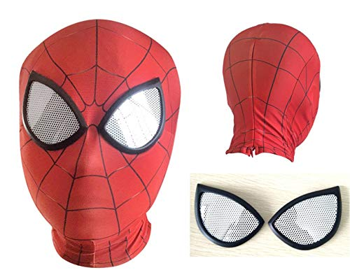 3D Red Head Wear Masks Spandex Lycra Scarfs Scarf Movie Lenses Marks Face Full Head Cosplay Costumes Masque Superhero Props Party -
