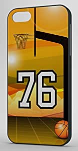 Basketball Sports Fan Player Number 76 Black Rubber Decorative iPhone 6 PLUS Case