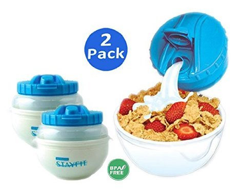 Cool Gear Stay Fit Deluxe Cereal Bowl (2 Pack)