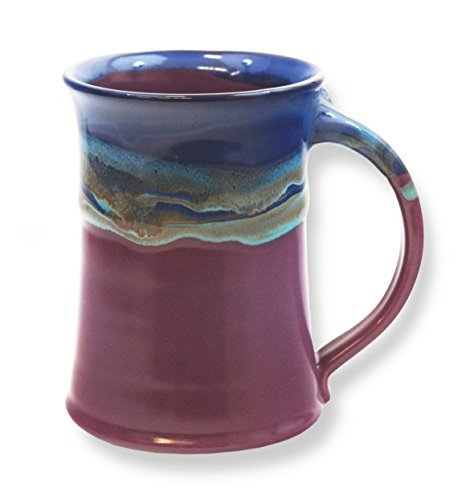 - Clay in Motion Handmade Ceramic Large Mug 20oz - Purple Passion