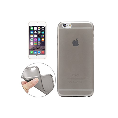 Apple iPhone 6s 6 Case, Fone-Stuff® - Noir 0.3mm Ultra Thin Slim TPU Cover Gel avec Protecteur d'écran en verre trempé