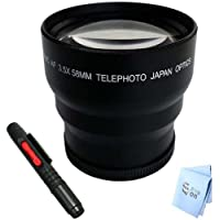 Bower 3.5x Professional High Speed Auto Focus Telephoto Lens with Macro. **Micro Fiber Cloth and Lens Pen Included!**