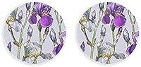 Abrebotellas de metal con flor de Iris de primavera retro romántico